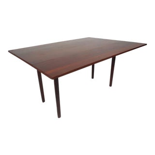 Unique Mid-Century Modern Walnut and Rosewood Dining Table
