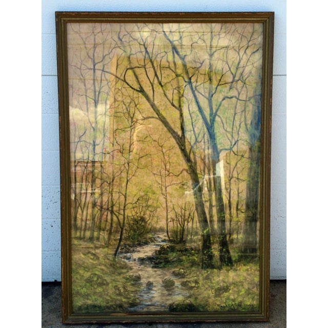 1948 Original Forest Watercolor Painting - Image 3 of 6