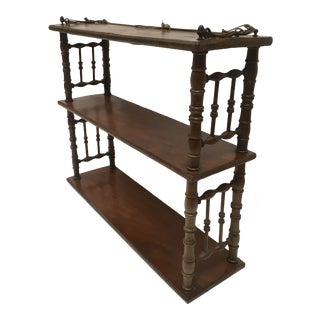 Vintage Folkart Spindle Design Shelves