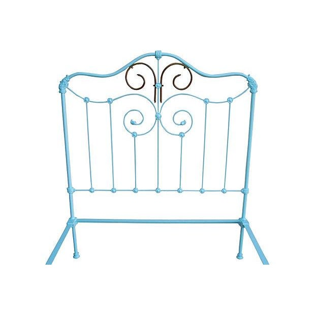 Antique Wrought Iron Bed Frame - A Full - Image 4 of 7