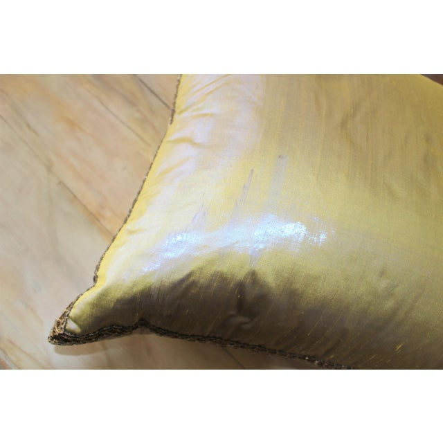 Isabelle H. Dual Color Metallic Silk Pillow - Image 6 of 7