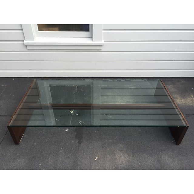 Mahogany & Glass Coffee Table - Image 3 of 6