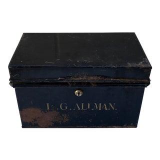 Vintage 19th Century Gentleman's Deed Box