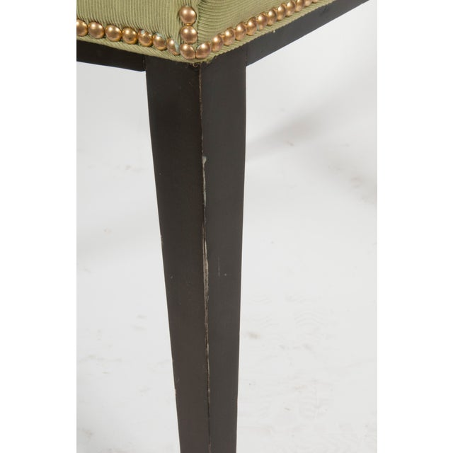 Image of Upholstered Shield Back Chair With Nailhead Trim