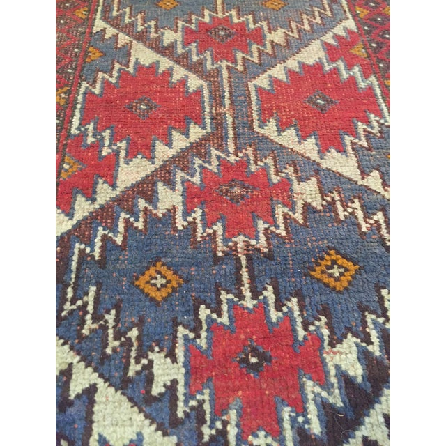 Vintage Handknotted Persian Runner - 1′9″ × 4′8″ - Image 2 of 6