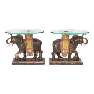Modern Rustic Italian Mid-Century Elephant End Tables