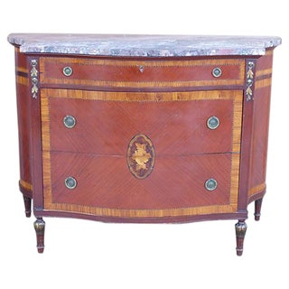 Marquetry & Inlay Marble Top Chest