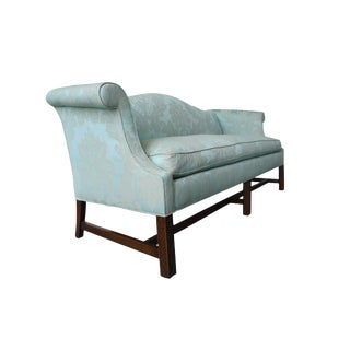 20th Century Chinese Chippendale Style Camelback Sofa