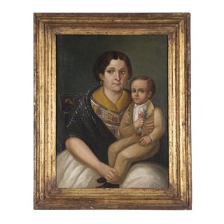 Death portrait (niño muerto) of Teodoro Gutierres with his mother, Doña Fernanda Haro