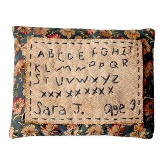 Antique Needlework Pillow