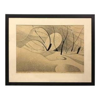 "Yuki Rei ""Le Chemin Qui Finit"" Wood Block Print"