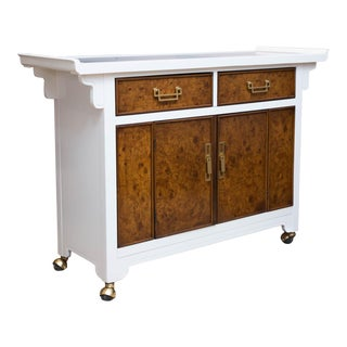 Lacquered and Burlwood Berhardt Sideboard/Server
