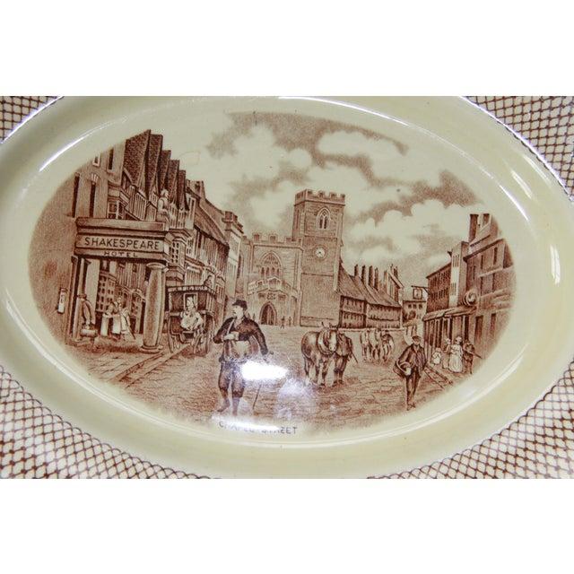 Myott Brown Transferware 'Shakespeare' Serving Platter - Image 3 of 5