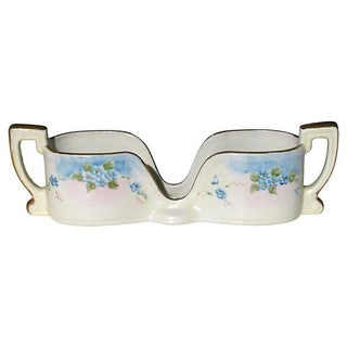 1920 Hand Painted Porcelain Spoon Caddy