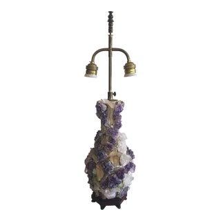 Amethyst & Green Quartz Lamp