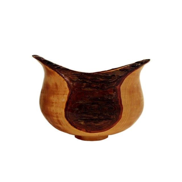 Hand Turned Texas Elm Wood Bowl - Image 1 of 4