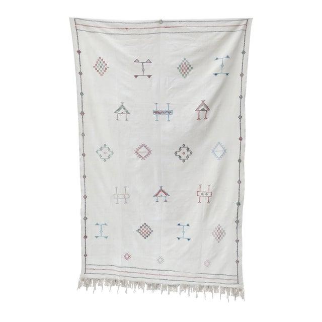 Moroccan Sabra Silk Rug - 5' x 9' - Image 1 of 4