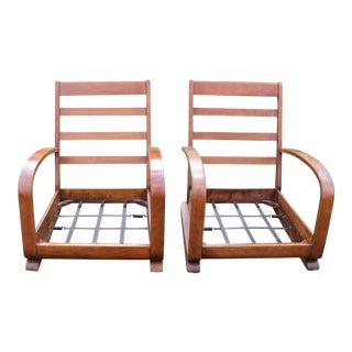 Mid-Century Modern Club Chairs- A Pair