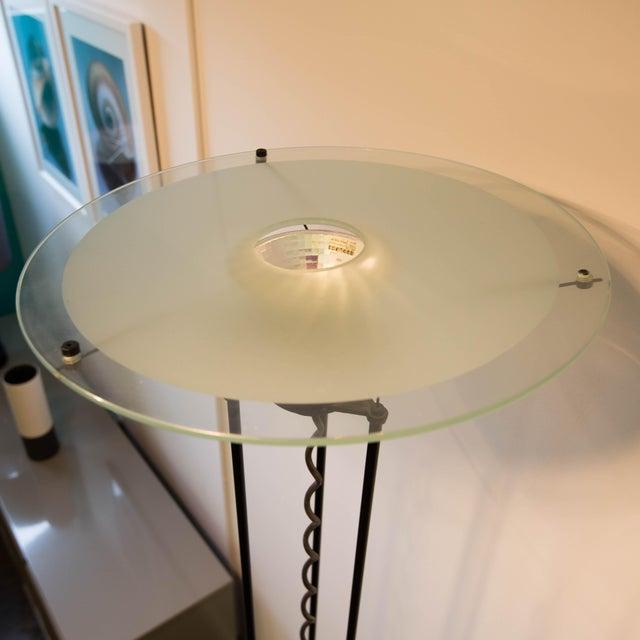 Image of Egoluce Aluminum and Glass Torchiere