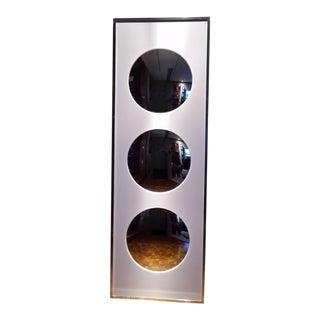 Mid Century Retro Carvers' Guild Convex Mirror in White Lucite