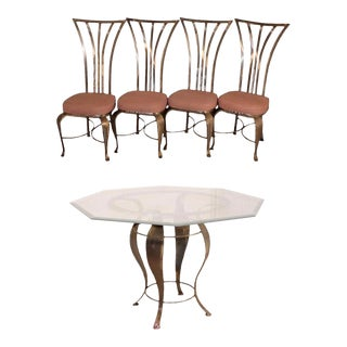 Mid-Century Modern Shaver Howard Steel Dining Table & Arthur Umanoff Chairs - Dining Set