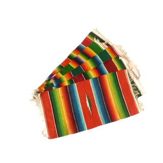 Vintage Handwoven Saltillo Serape Placemats - Set of 5
