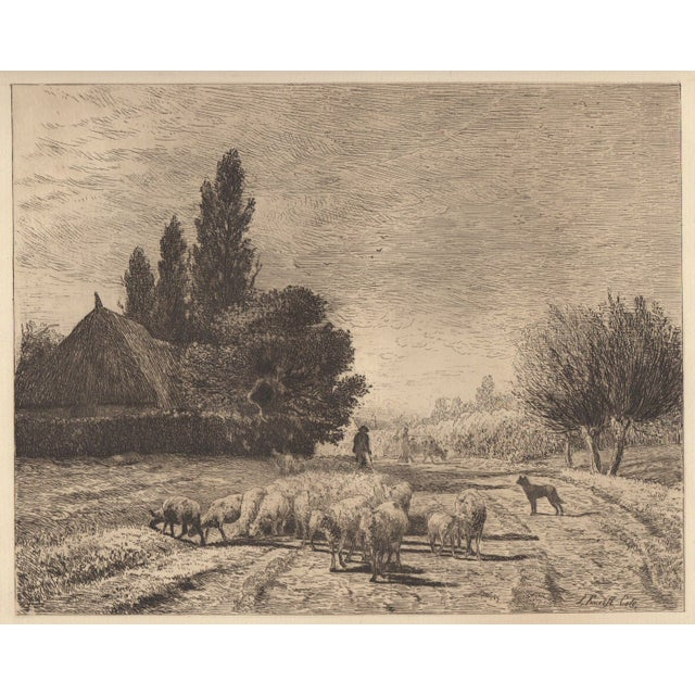 Joseph Foxcroft Cole Etching c. 1879 - Image 1 of 3