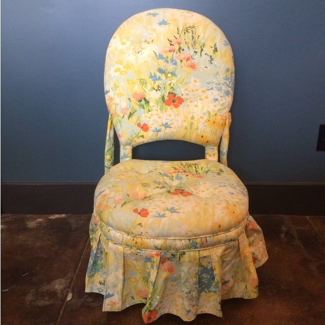 Vintage Floral Folding Chair - Image 2 of 9