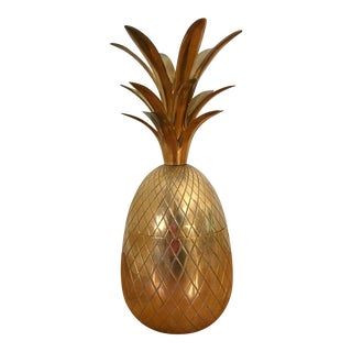 Extra Large Brass Pineapple Container