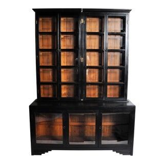 British Colonial Breakfront Display Case