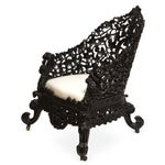 Image of Antique 1850 Anglo-Indian Hand Carved Chair