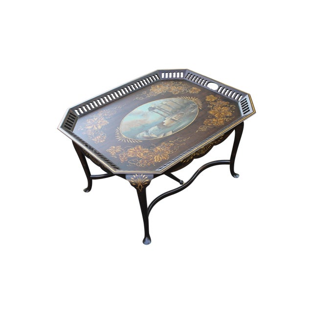 Hand Painted Tray Top Coffee Table Chairish