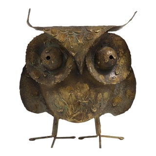 A Brutalist Owl by C. Jere Signed 1968