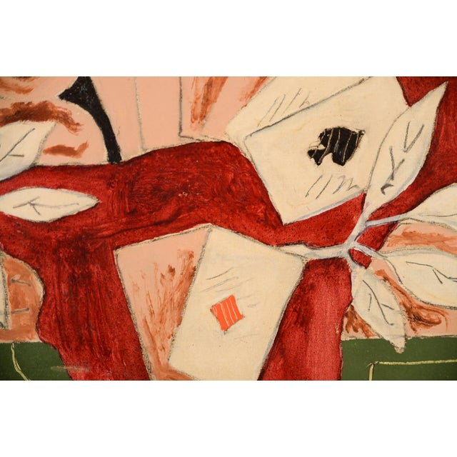 Image of Jean Francis Laglenne Poker Cards Still Life Oil Painting