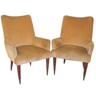 Art Deco Style Arm Chairs - Pair