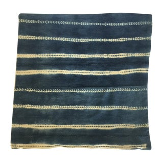 Vintage Indigo Square Pillow Cover