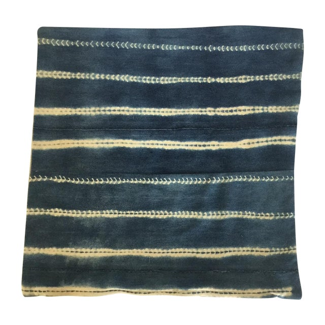Image of Vintage Indigo Square Pillow Cover