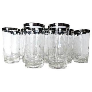Mid-Century Modern Silver Rim Glassware - 11
