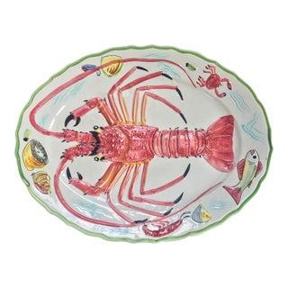 Hand Painted Lobster Platter