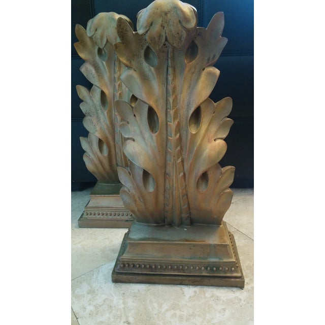 Antique Gold Ancuthus Wall Display Shelves a Pair - Image 5 of 8