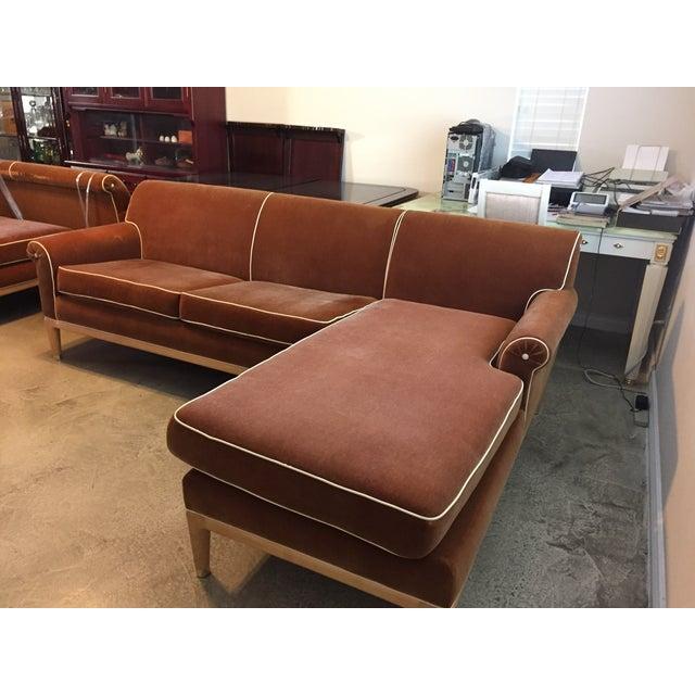 Roger Thomas L-Shape Orange Sectional Sofa - Image 4 of 5