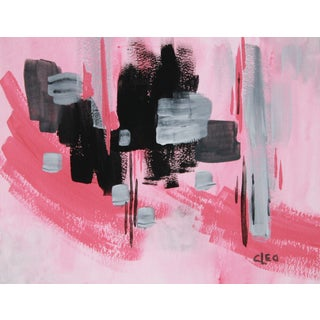 """Powder Room 2"" Abstract Painting by Cleo"