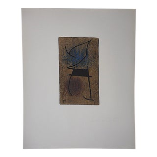 Large Mid 20th C. Ltd. Ed. Miro Lithograph