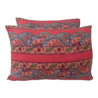 Printed Cotton Pillows - A Pair