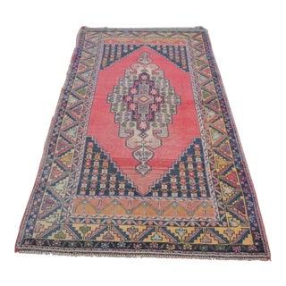 Antique Anatolian Oushak Rug - 3′8″ × 7′