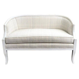 Vintage 1950s Swedish-Style Curved Settee