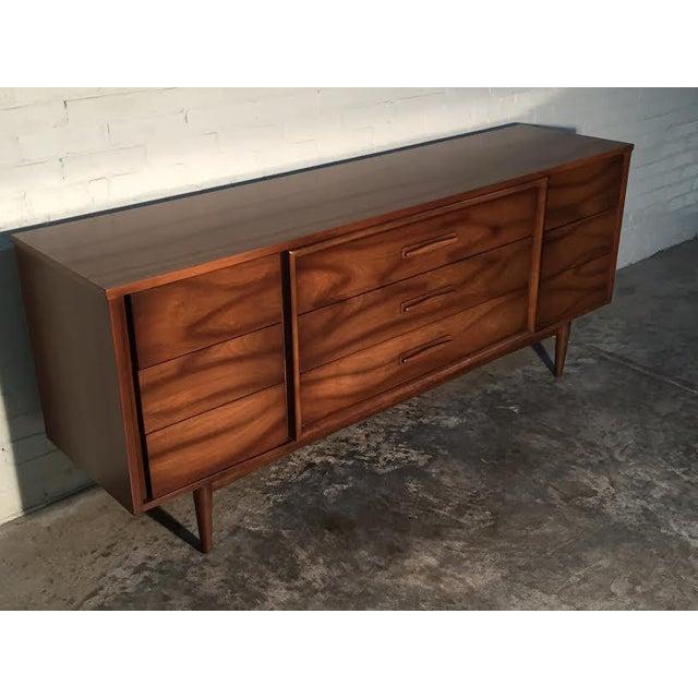 Walnut Mid-Century Danish Modern Dresser - Image 9 of 11