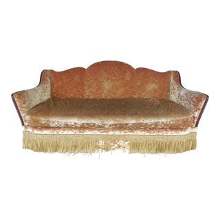Guy Chaddock Hollywood Regency Velvet Upholstered Designer Sofa