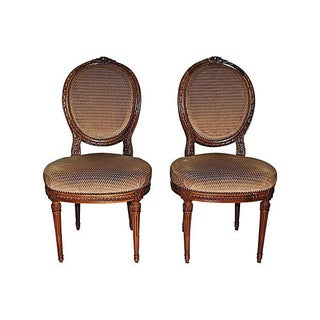 Antique French Louis XVI Side Chairs - A Pair