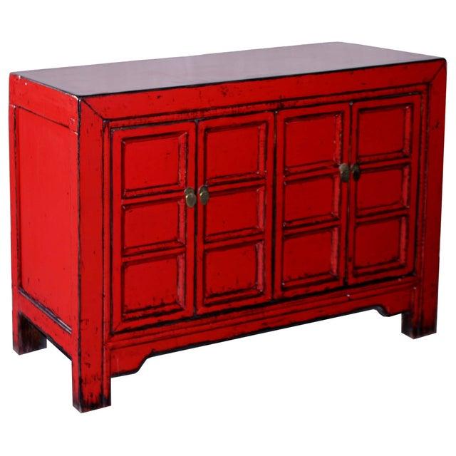 Red Paneled Door Sideboard - Image 2 of 5